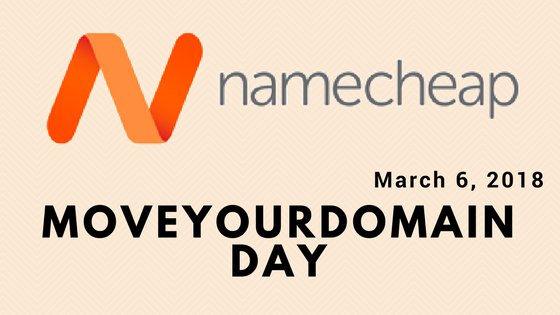 Move Your Domain Day củaNamecheap