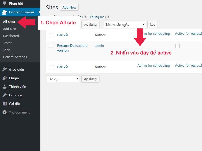 Nhấn chọn chức năng như hình để kích hoạt chạy ngay chiến dịch.