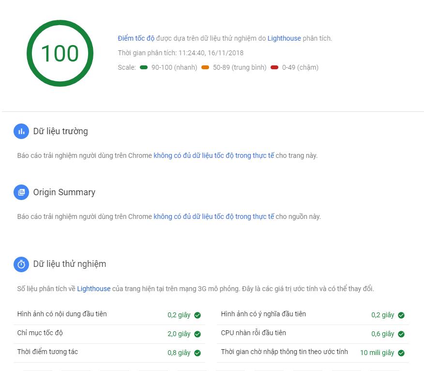 Tối ưu tốc độ website PBN trên Google Pagespeed